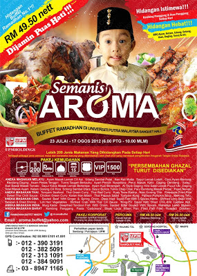 Buffet Ramadhan Semanis Aroma| 50% Diskaun Peserta Blogger