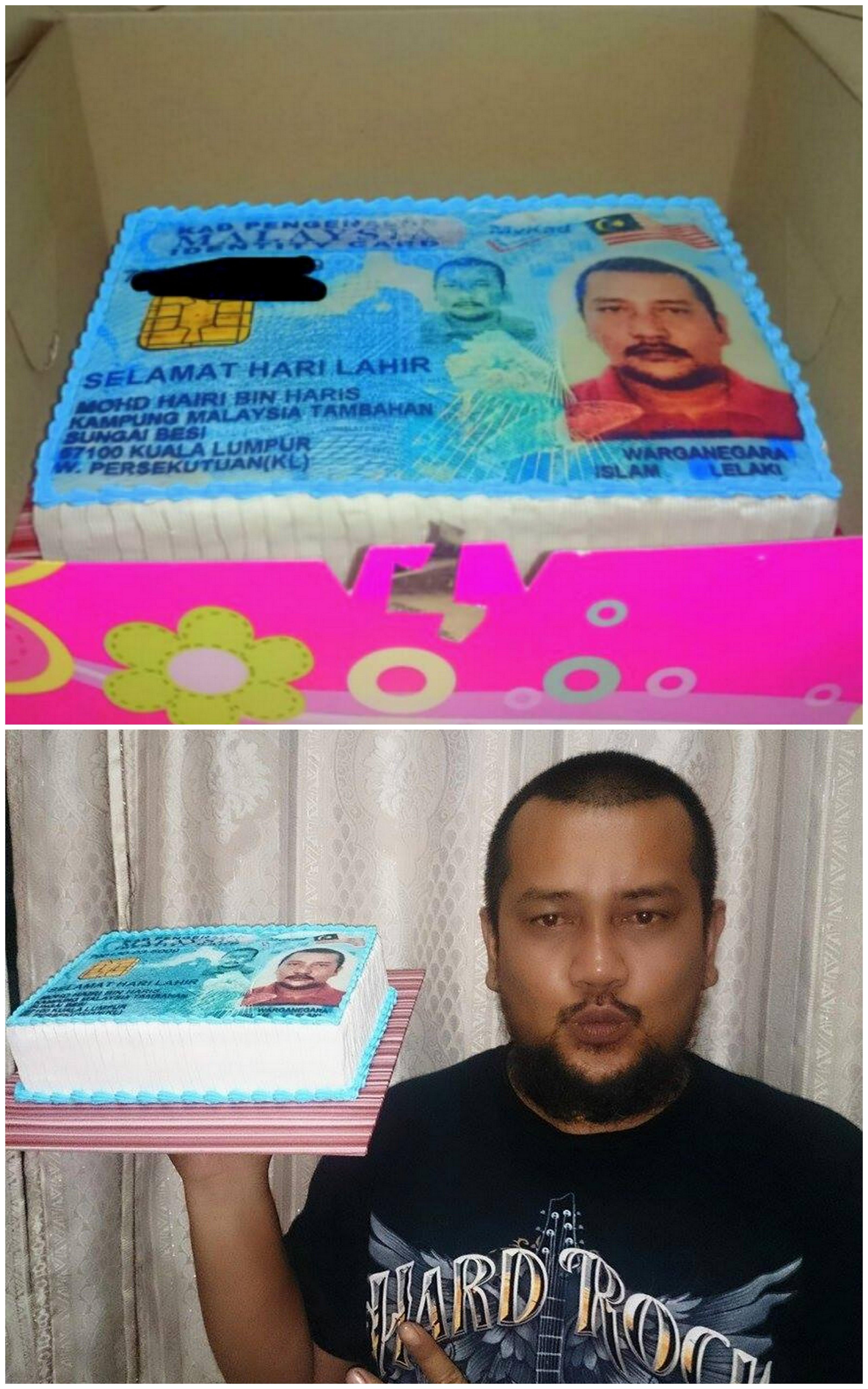 Birthday Cake Tema Kad Pengenalan