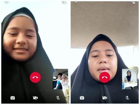 Kakak Azwa Selepas 2 Minggu Belajar di SMKA Falahiah