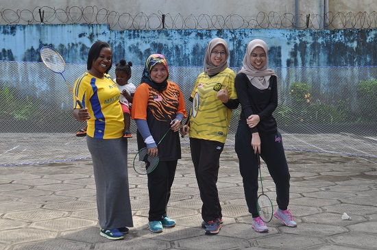 ladies at malaysia sports day