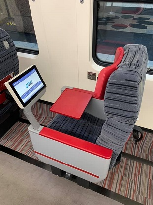 seat single ets business class train