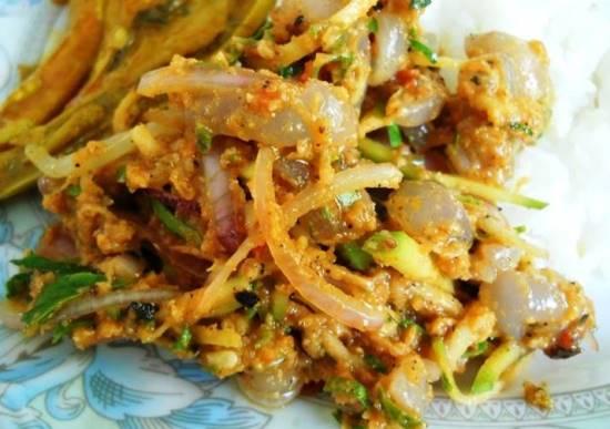 makanan best di Malaysia kerabu bronok